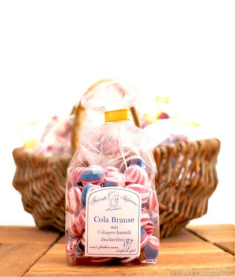 Zuckerfreie Bonbons Cola Brause, Kramer's Spezialitäten, 120g