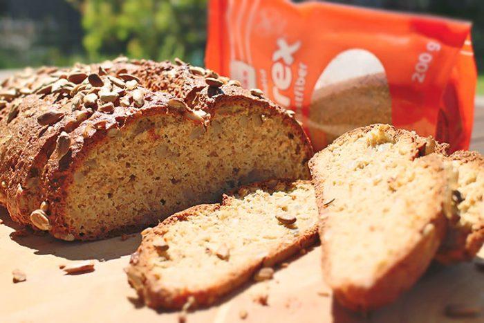 Helles Low Carb Brot mit mildem Geschmack und Zuckerrübenfasern