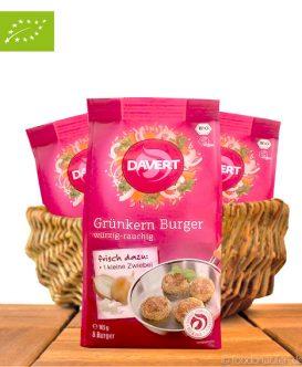 Bio Grünkern Burger, Würzig-Rauchig, Vegan, 165g, Davert
