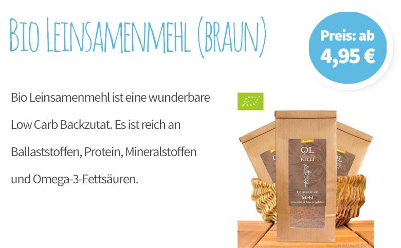 Bio Leinsamenmehl, braun - Banner