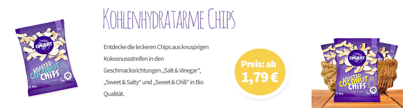 Kohlenhydratarme Chips - Banner