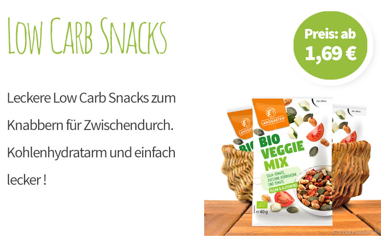 Low Carb Snacks - Banner - Mobile