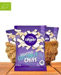 Roasted Coconut Chips, Salt & Vinegar, Bio-Qualität, 40g, Davert