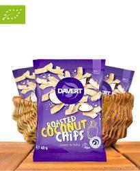 Roasted Coconut Chips, Sweet & Salty, Bio-Qualität, 40g, Davert