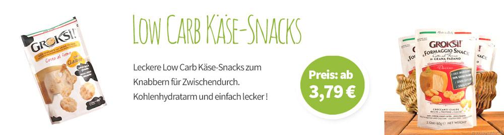 Low Carb Käsesnacks - Banner